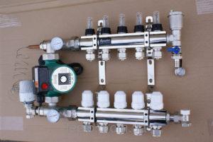 Подключение гребенки отопления и водоснабжения