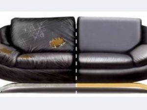 Перетяжка кожаного дивана в Архангельске
