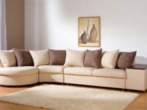 Перетяжка углового дивана на дому в Архангельске